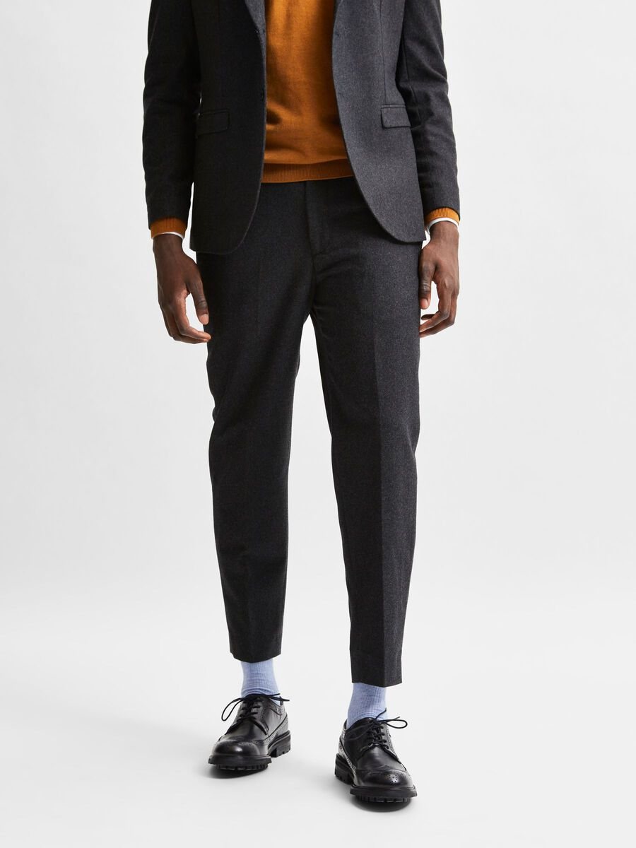 Selected TAPERED FIT BROEK, Antracit, highres - 16082632_Antracit_003.jpg