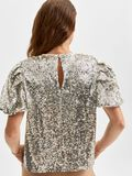 Selected SEQUIN PUFF SLEEVED TOP, Silver, highres - 16080558_Silver_006.jpg