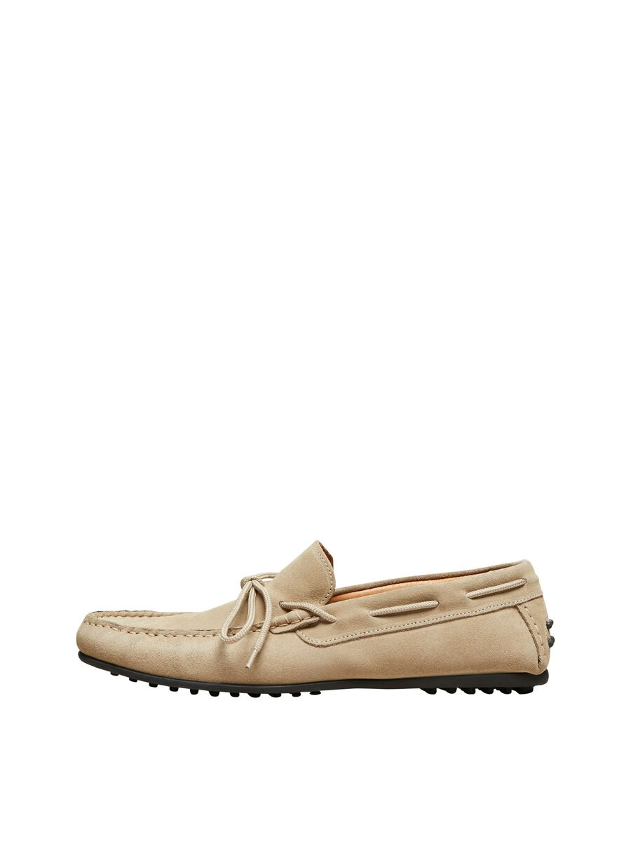 Selected SUEDE - LOAFERS, Sand, highres - 16066538_Sand_001.jpg