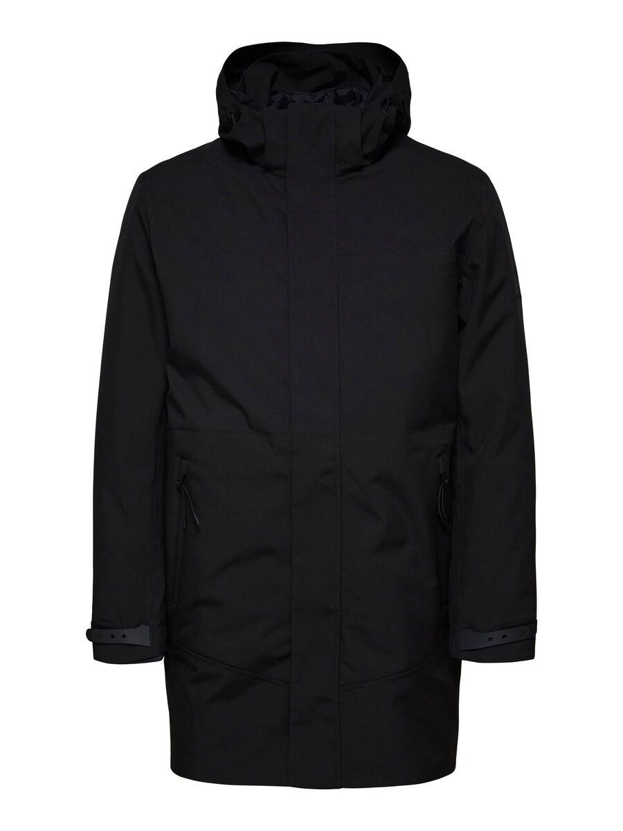 Selected AVEC CAPUCHE VESTE, Black, highres - 16079405_Black_001.jpg