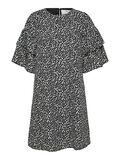 Selected CURVE SHORT PRINTED DRESS, Black, highres - 16079950_Black_001.jpg