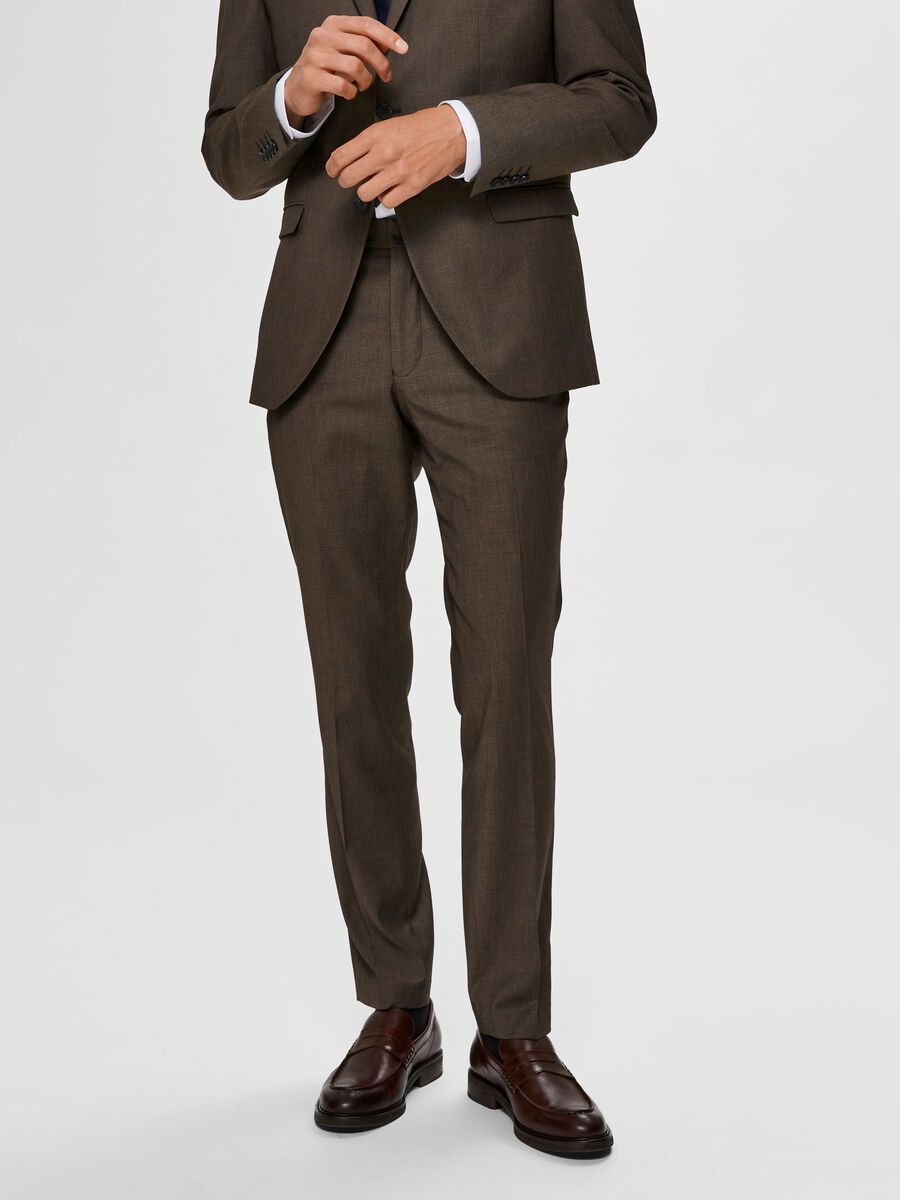 Selected SLIM FIT - SUIT TROUSERS, Camel, highres - 16075076_Camel_811787_003.jpg