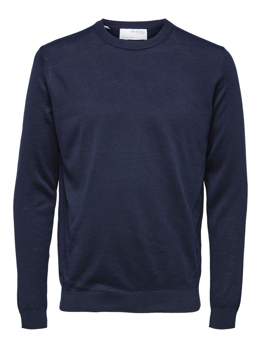 Selected LAINE MERINOS COOLMAX® PULLOVER, Navy Blazer, highres - 16079772_NavyBlazer_853571_001.jpg