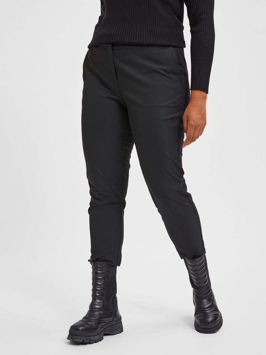 Selected CURVE CROPPED TROUSERS, Black, highres - 16077781_Black_003.jpg