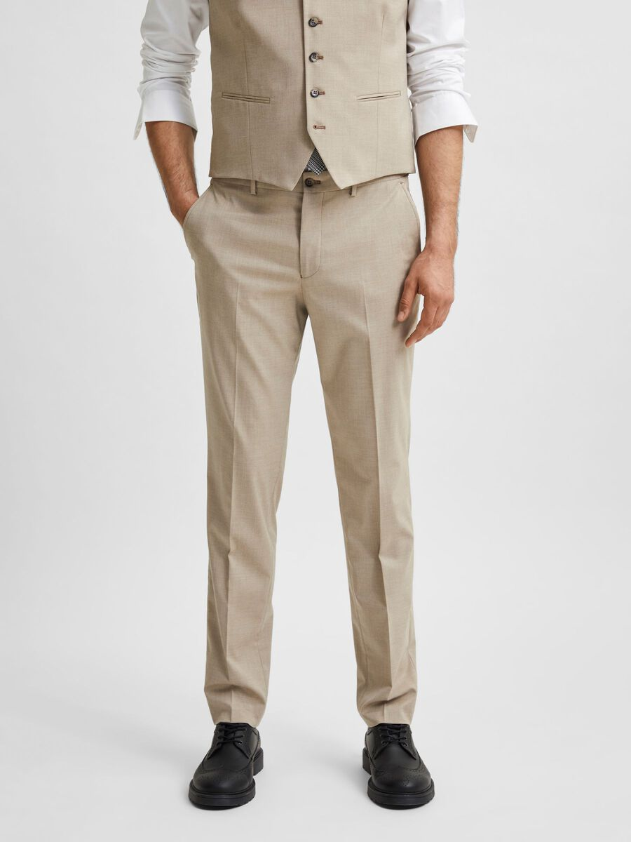 Selected SLIM FIT SUIT TROUSERS, Sand, highres - 16078108_Sand_003.jpg