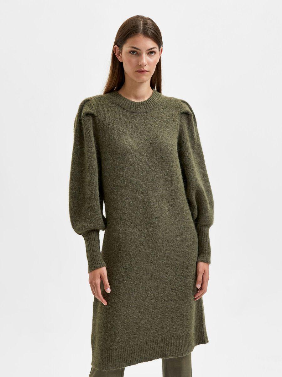 Selected BALLOON SLEEVED KNITTED DRESS, Kalamata, highres - 16080611_Kalamata_875032_003.jpg