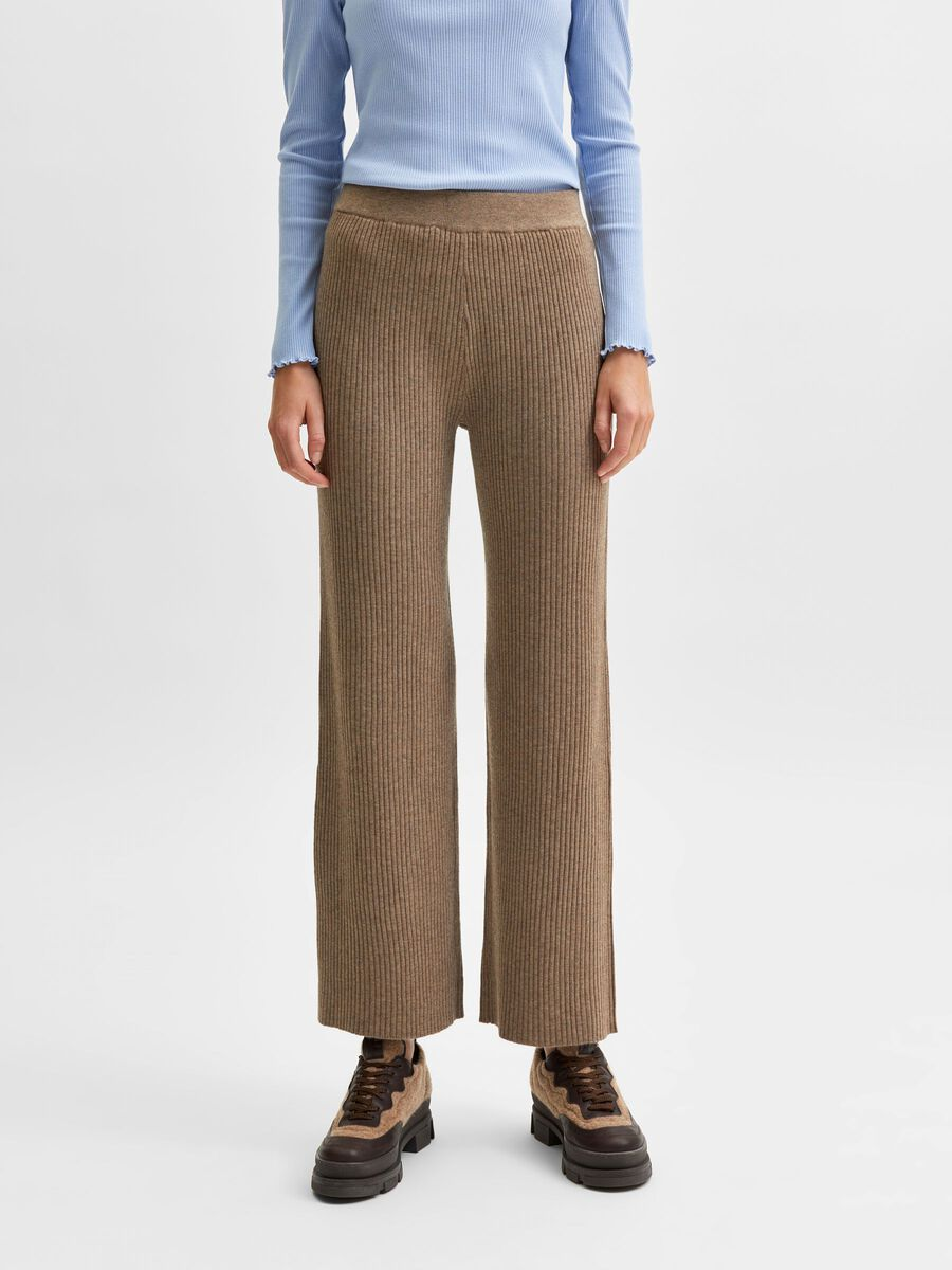 Selected KNITTED HIGH WAISTED TROUSERS, Amphora, highres - 16081312_Amphora_884475_003.jpg